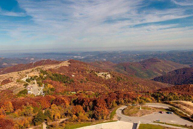 展望台から紅葉の景色
